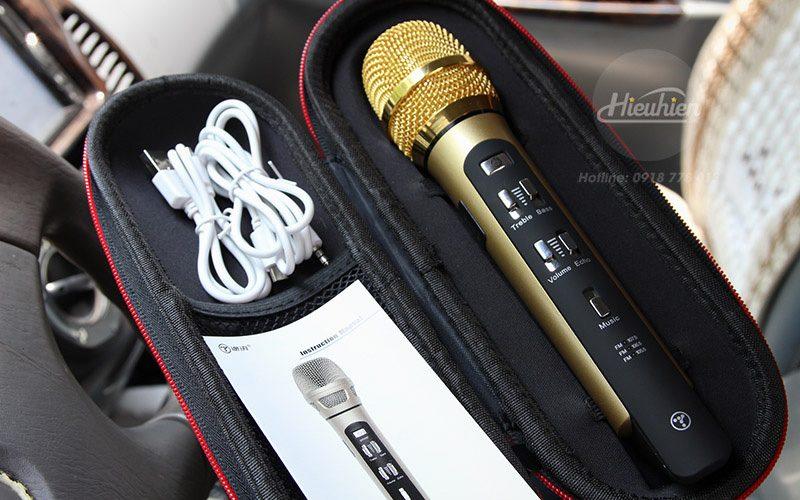 tuxun k9 - micro hát karaoke trên ô tô, xe hơi - full kiện