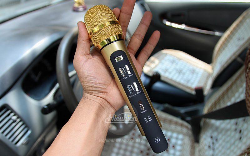 tuxun k9 - micro hát karaoke trên ô tô, xe hơi - mặt trước