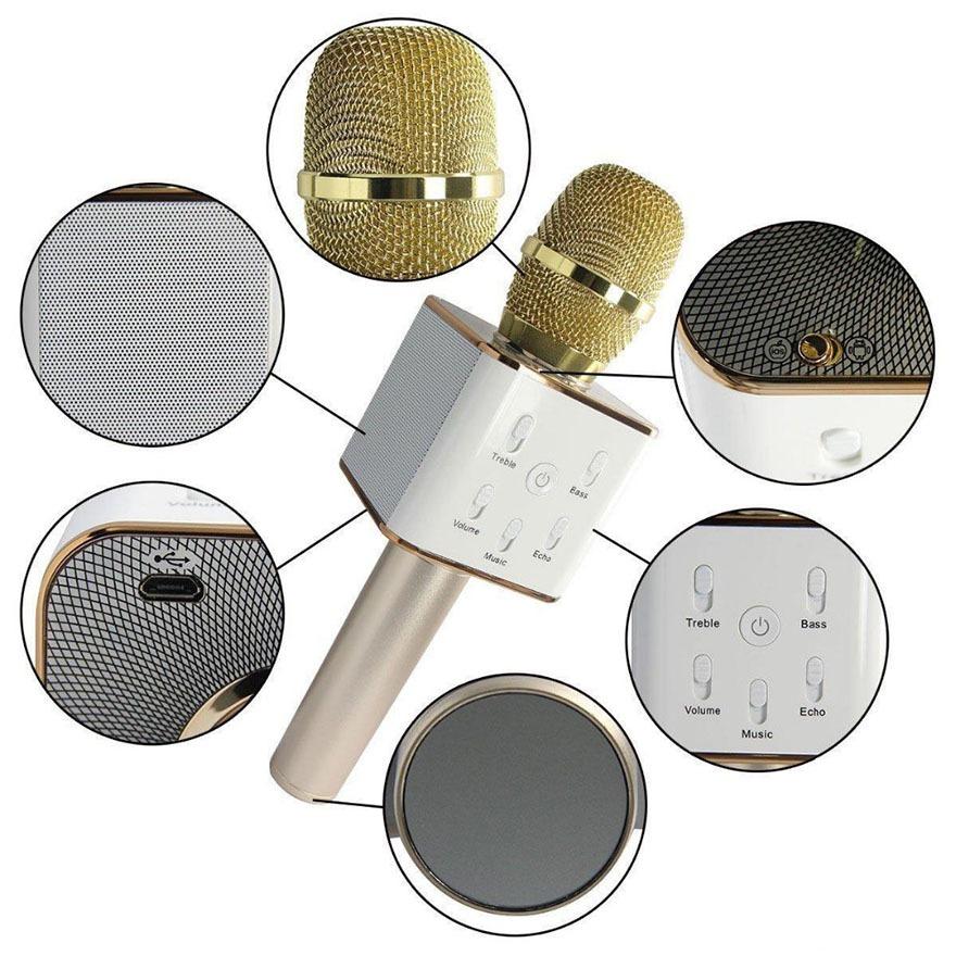 tuxun q7 micro hat karaoke tich hop loa bluetooth cho dien thoai - cau tao