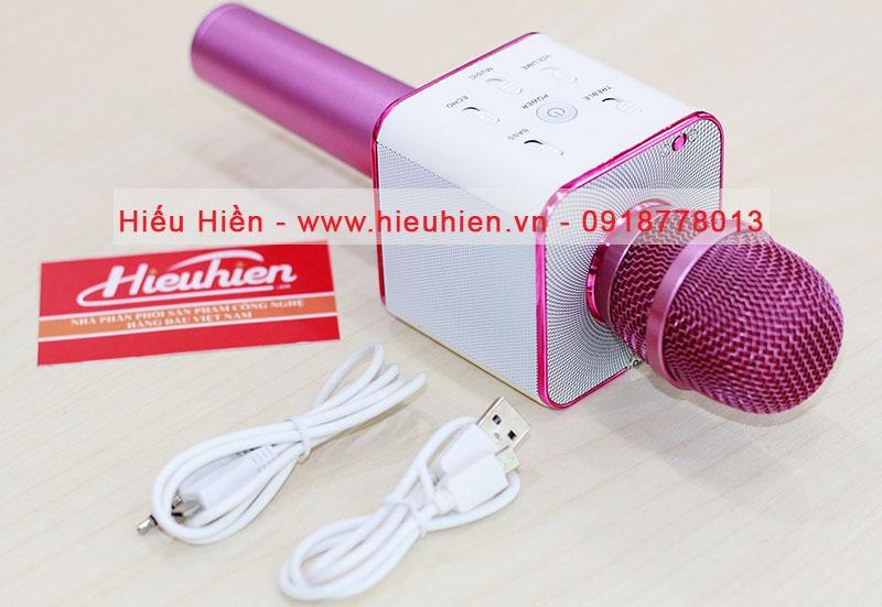 tuxun q7 micro hat karaoke tich hop loa bluetooth cho dien thoai