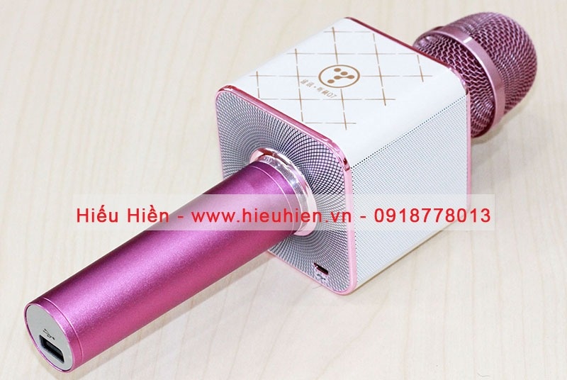 micro kem loa bluetooth hat karaoke tuxun q7u chinh hang