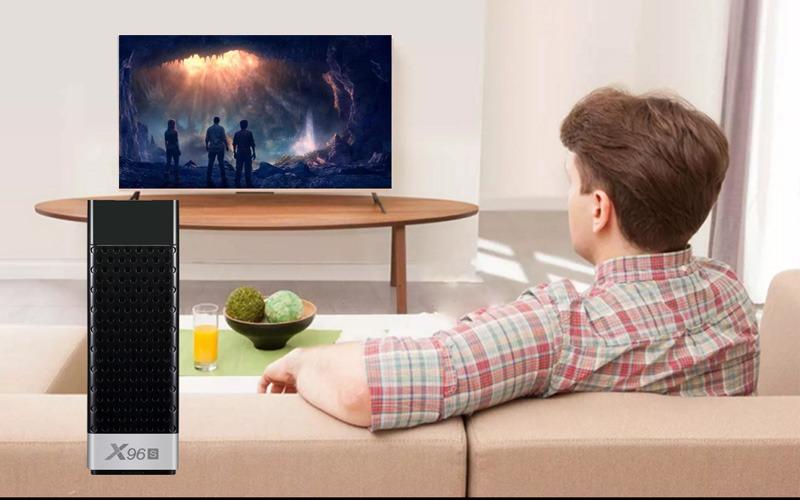 android tv stick x96s 2gb/16gb, cpu amlogic s905y2, android 8.1 - không gian giải trí
