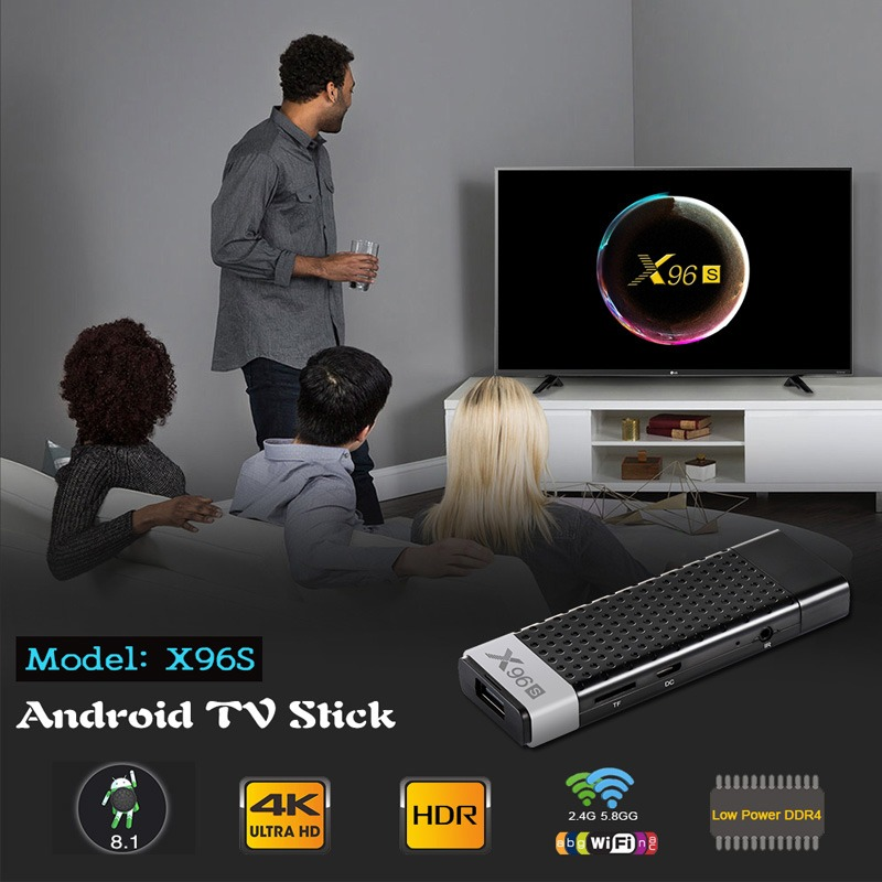 android tv stick x96s 4gb/32gb, cpu amlogic s905y2, android 8.1 - nhỏ gọn