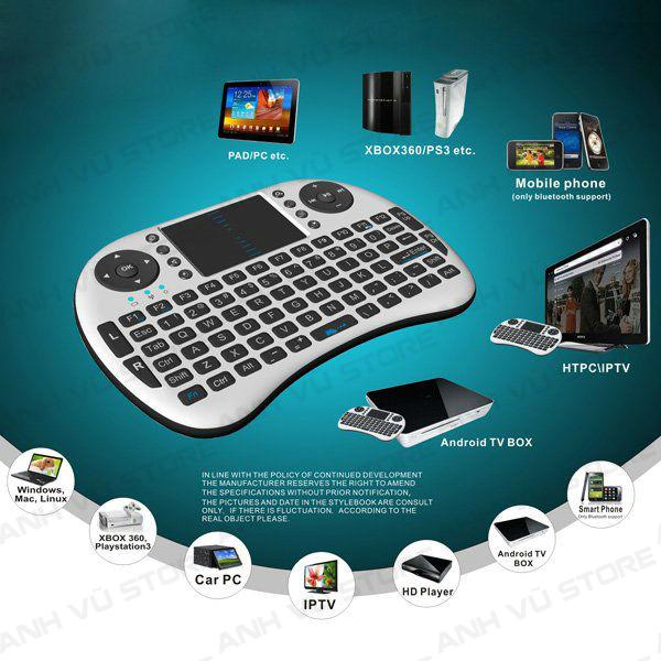Mini Keyboard UKB-500-RF - Bàn phím kiêm chuột không dây dùng cho Android TV Box, Smart TV 01