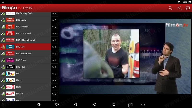 kenh bbc two tren filmon tv android tv box
