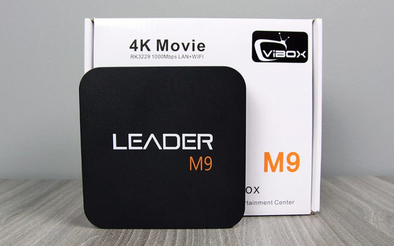 leader m9 android tv box giá rẻ, chip lõi tứ rockchip rk3229 + remote - hộp