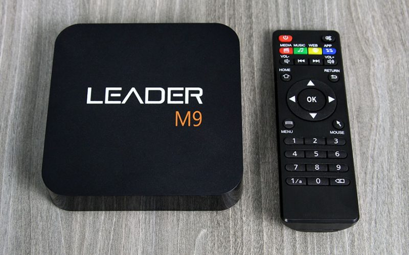 leader m9 android tv box giá rẻ, chip lõi tứ rockchip rk3229 + remote - logo m9