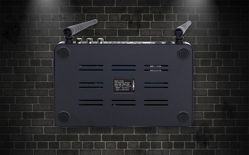 vibox v2 max 2gb/8gb android tv box chính hãng thương hiệu việt - mặt sau