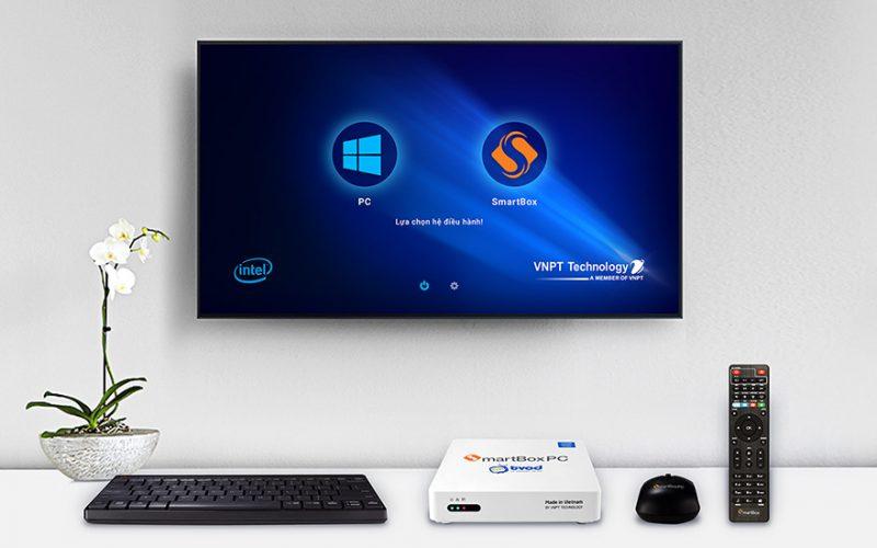 vnpt smartbox pc: cpu intel, chạy song song hai hệ điều hành windows và android - giao diện