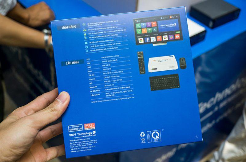 vnpt smartbox pc: cpu intel, chạy song song hai hệ điều hành windows và android - hộp