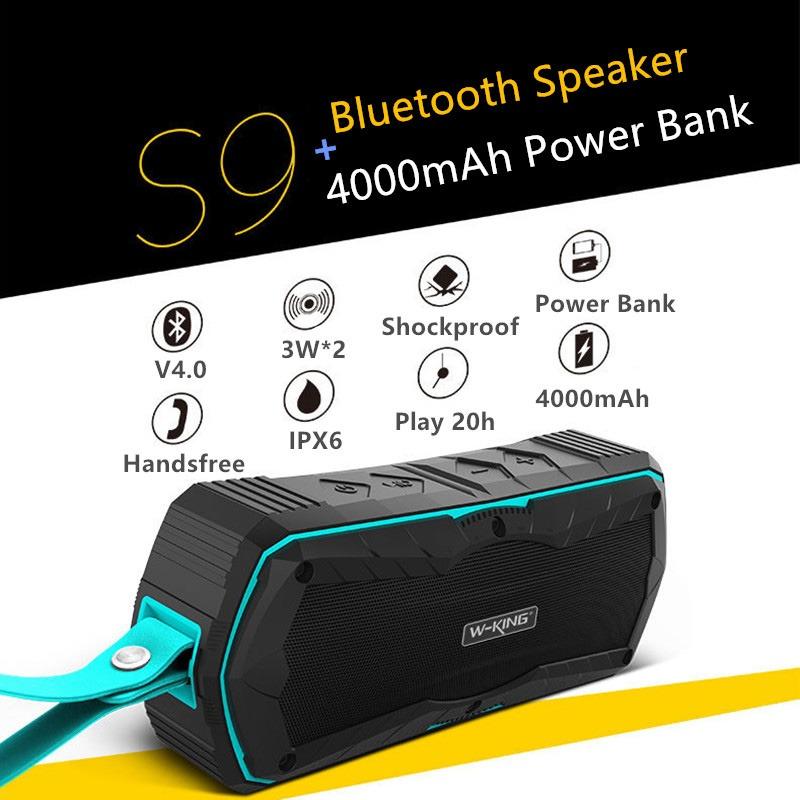 W-King S9 - Loa Bluetooth chống nước, kiêm pin sạc dự phòng 4000mAh 11