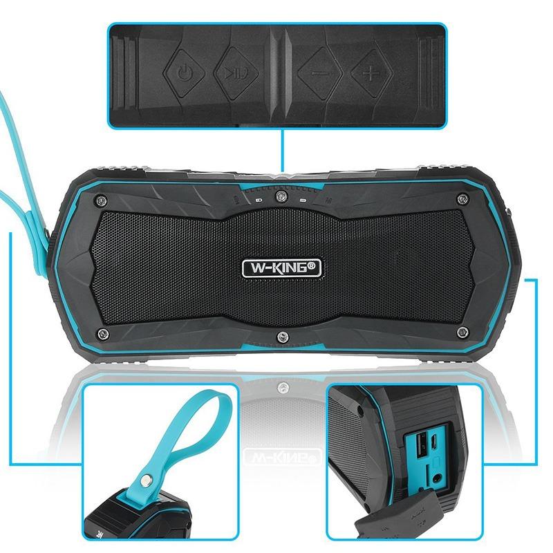 W-King S9 - Loa Bluetooth chống nước, kiêm pin sạc dự phòng 4000mAh 12