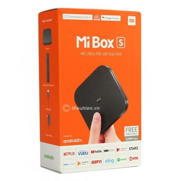 xiaomi mibox s 4k android tv global quốc tế tiếng việt - hình 01