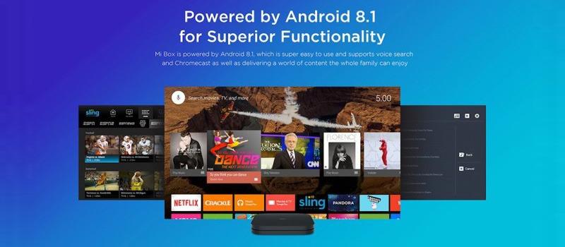 xiaomi mibox s 4k android tv box phiên bản quốc tế - android 8.1