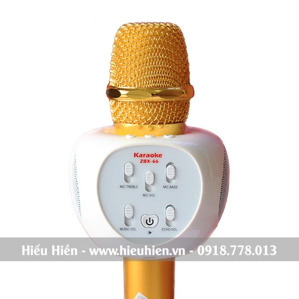 Micro Kèm Loa ZBX-66, Micro Hát Karaoke Bluetooth Cực Hay 01