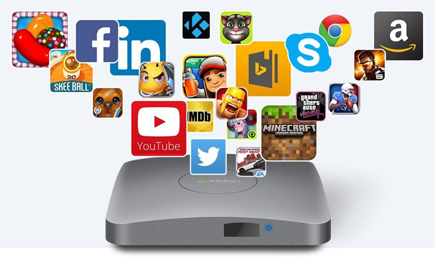 zidoo a5 va zidoo a5s: android tv box amlogic s905x, chay android 6.0, ho tro 4k hdr 05 - kho ung dung google play store (ch play)