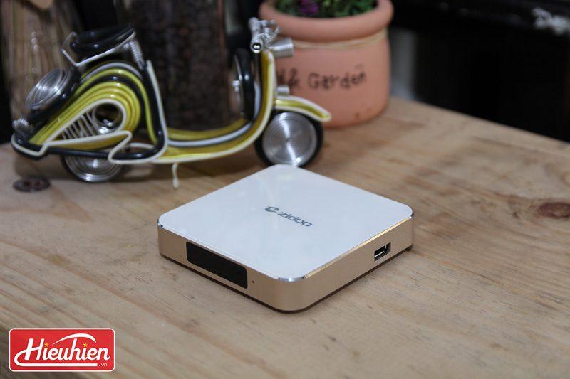 zidoo h6 pro android tv box chip lõi tứ allwinner h6, chạy android 7.0 - mặt trên