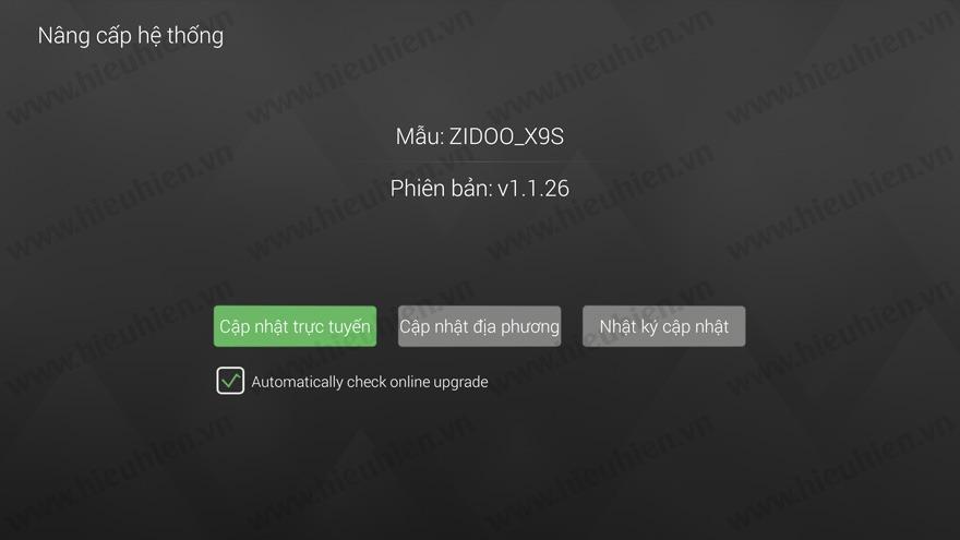 zidoo phat hanh firmware moi v1.1.26 cho android tv box zidoo x9s - nang cap he thong