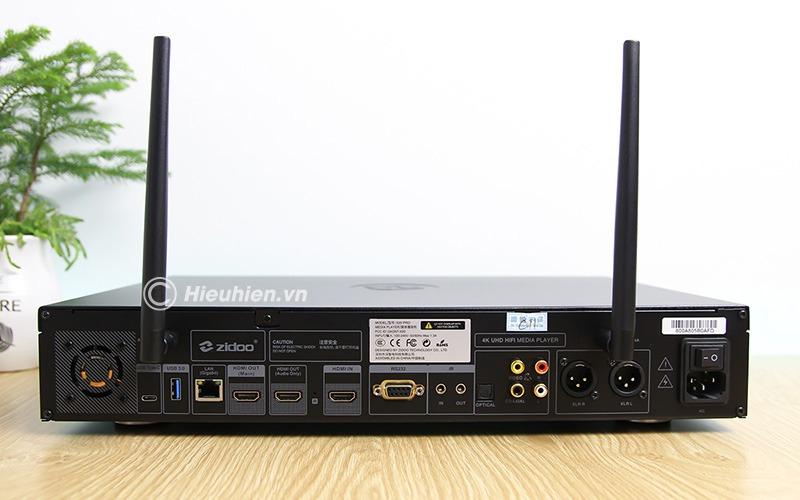 zidoo x20 pro - hifi media player - đầu phát 4k hdr chuyên nghiệp - đầy đủ cổng kết nối