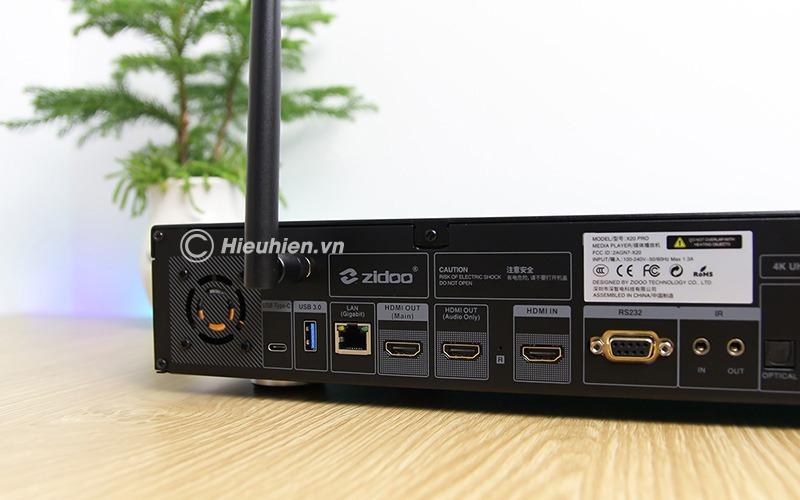 zidoo x20 pro - hifi media player - đầu phát 4k hdr chuyên nghiệp - cổng usb 3.0