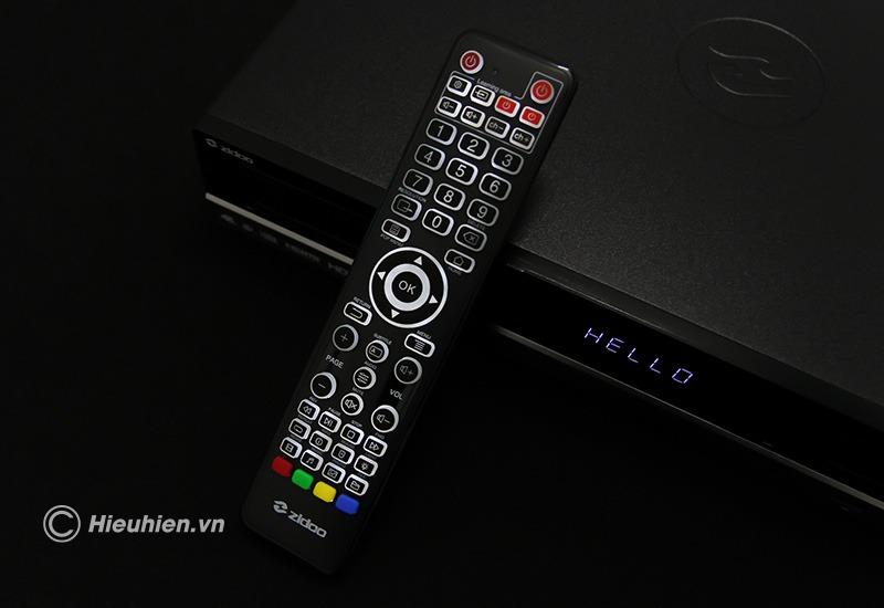 zidoo x20 pro - hifi media player - đầu phát 4k hdr chuyên nghiệp - remote đèn led