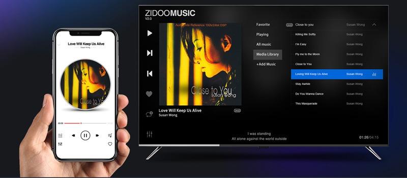 zidoo x20 pro - hifi media player - đầu phát 4k hdr chuyên nghiệp - điều khiển điện thoại