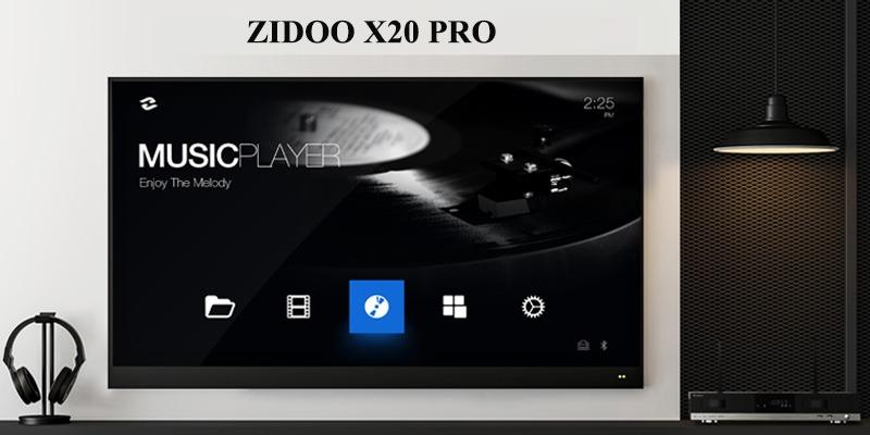 zidoo x20 pro - hifi media player - đầu phát 4k hdr chuyên nghiệp - âm thanh sống động