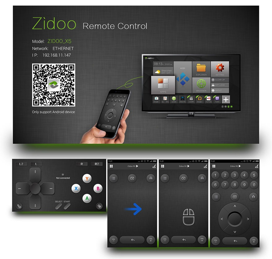 ZIDOO x5 android tv box amlogic s905 quad-core 64-bit 12