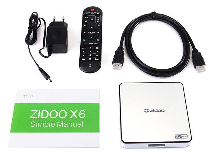ZIDOO x6 pro android tv box: tron bo san pham