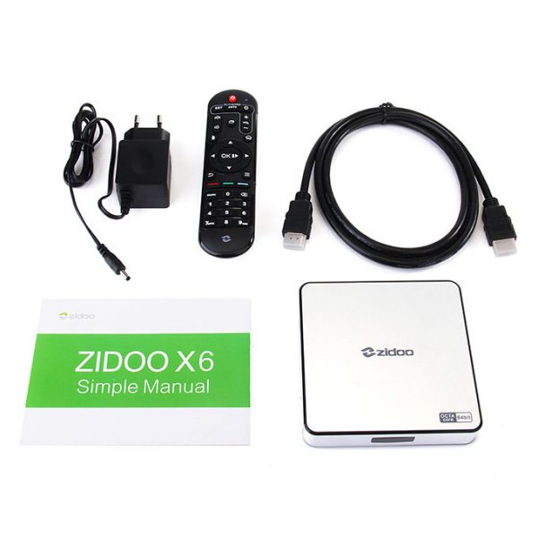 zidoo x6 pro android tv box cấu hình khủng, chip 8 lõi 64-bit, android 5.1 lollipop 10