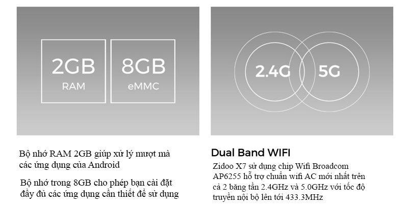 zidoo x7 chính hãng android tv box chip lõi tứ 64-bit rk3328, chạy android 7.1 - ram 2gb rom 8gb