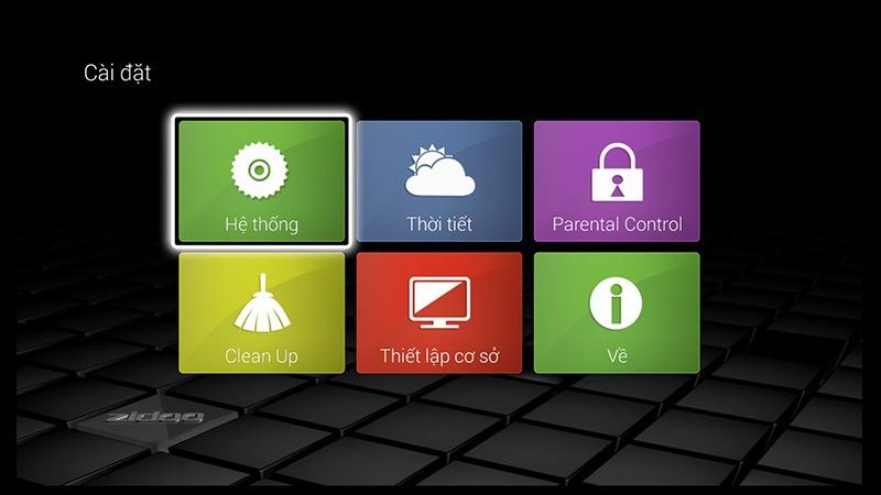 ZIDOO x9 android tv box: giao dien cai dat cung de nhin va de thao tac voi remote