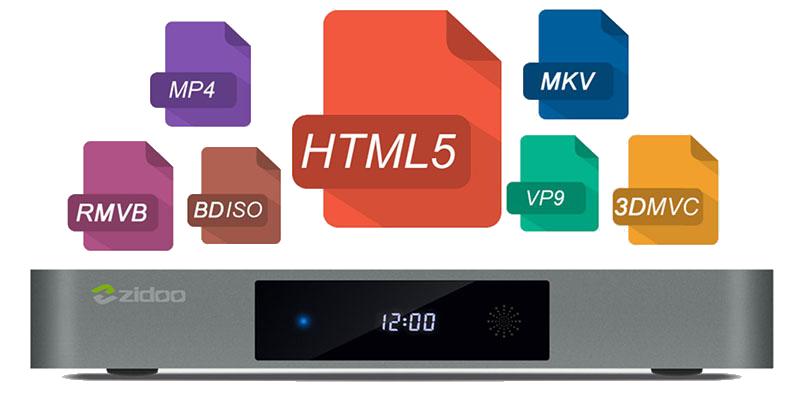 zidoo x9s chính hãng android 6.0 tv box chip realtek rtd1295, hỗ trợ 4k hdr - hỗ trợ nhiều định dạng mới
