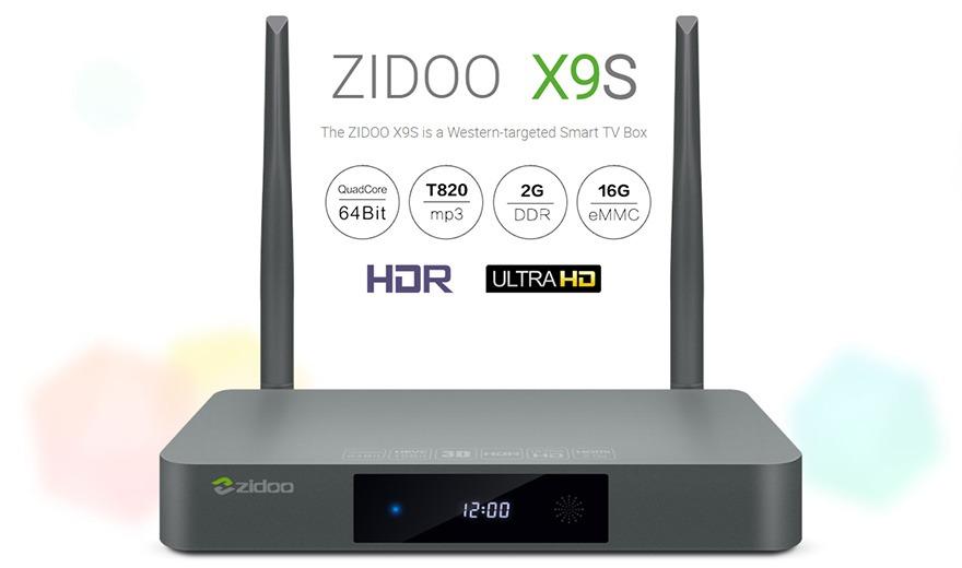 zidoo x9s chính hãng android 6.0 tv box chip realtek rtd1295, hỗ trợ 4k hdr - cấu hình cao