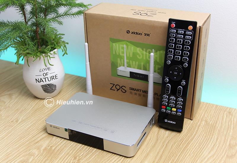 zidoo z9s - đầu phát 4k media player, đầu karaoke android cao cấp - box kèm phụ kiện