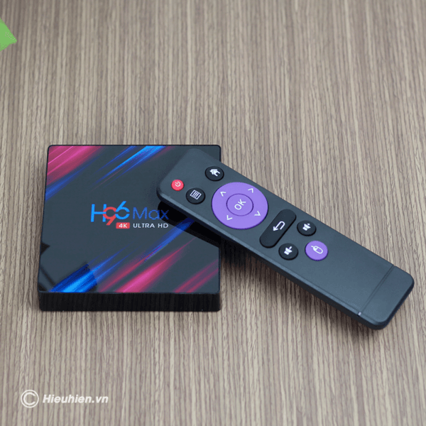 android tv box enybox h96 max 4gb/64gb, rk3318 android 9.0 tv box 4k - hình 02
