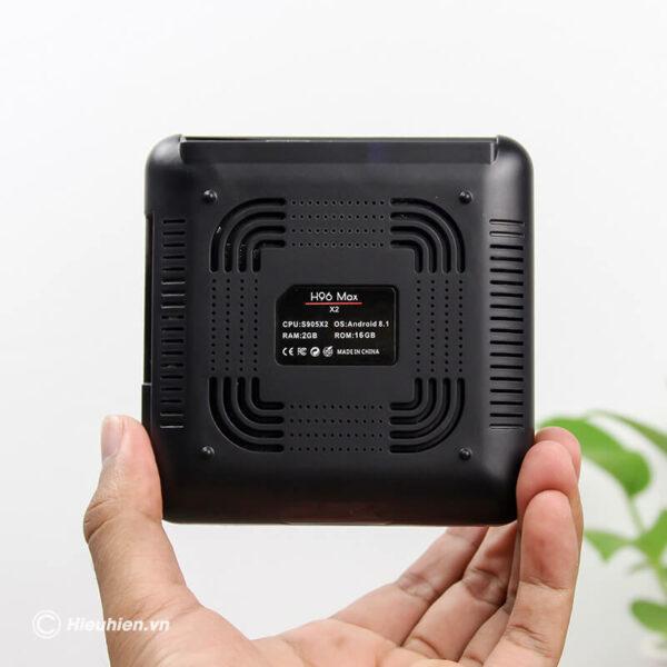 android tv box h96 max x2 cấu hình ram 2gb rom 32gb - hình 01