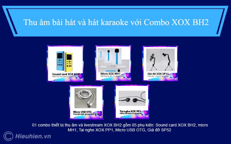 combo xox bh2 - thiết bị thu âm, livestream, hát karaoke trên điện thoại - hình 01