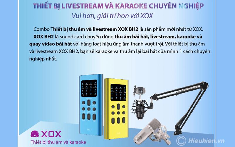 combo xox bh2 - thiết bị thu âm, livestream, hát karaoke trên điện thoại - hình 02