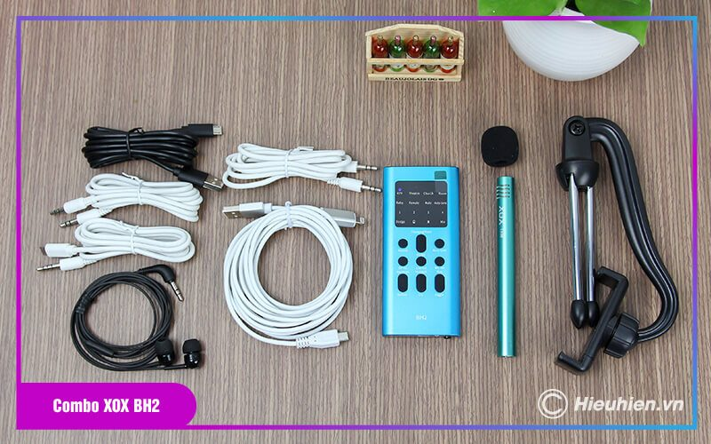 thiết bị thu âm combo xox bh2 - chuyên livestream, hát karaoke trên điện thoại - hình 09