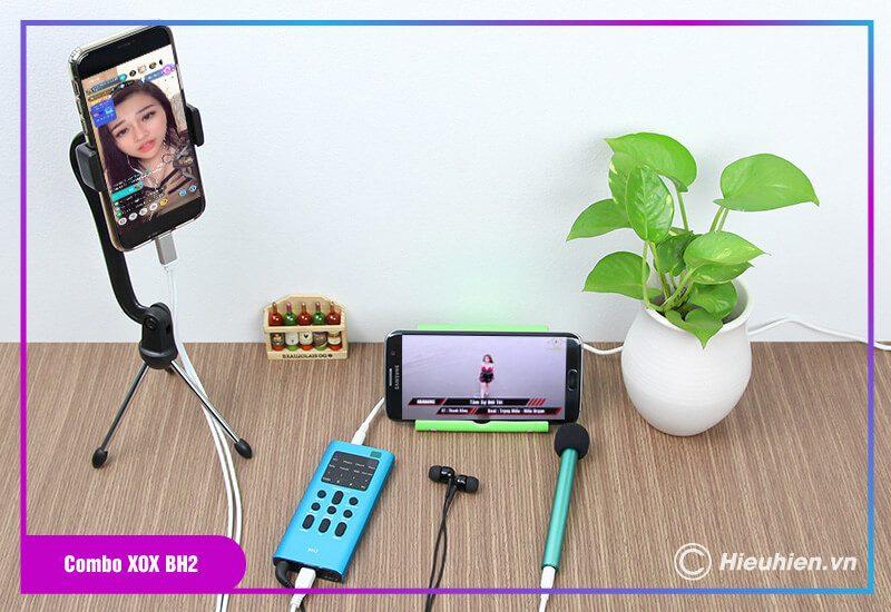 thiết bị thu âm combo xox bh2 - chuyên livestream, hát karaoke trên điện thoại - hình 10