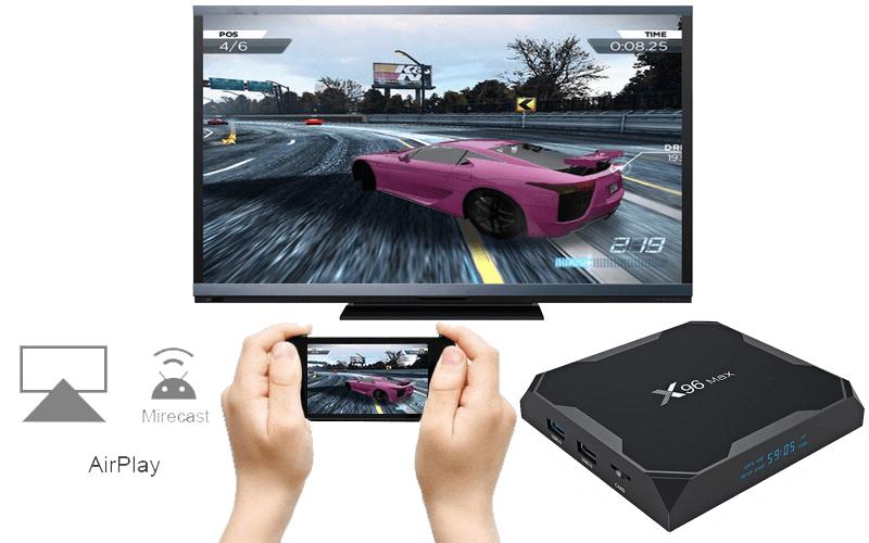 enybox x96 max 4gb/32gb android 8.1 tv box amlogic s905x2- hình 13