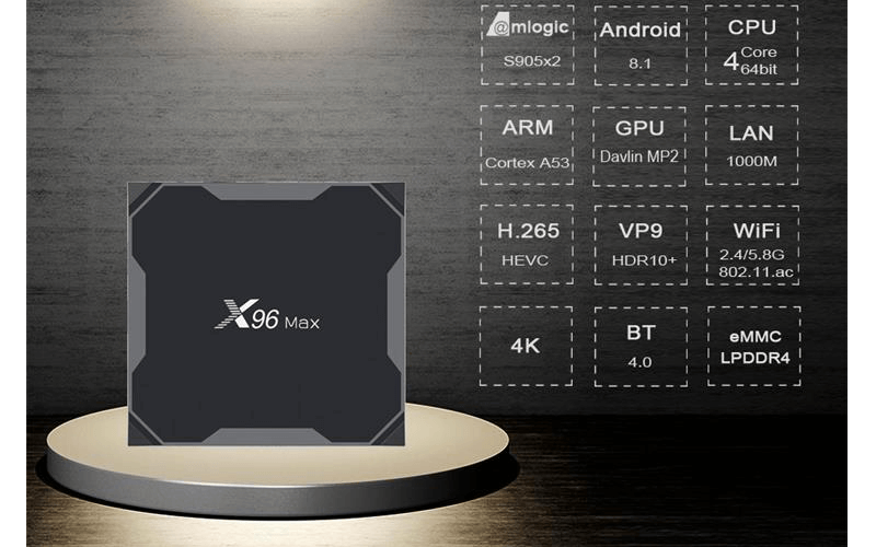 Enybox X96 MAX 4GB/64GB Android 8.1 TV Box Amlogic S905X2-hình 09