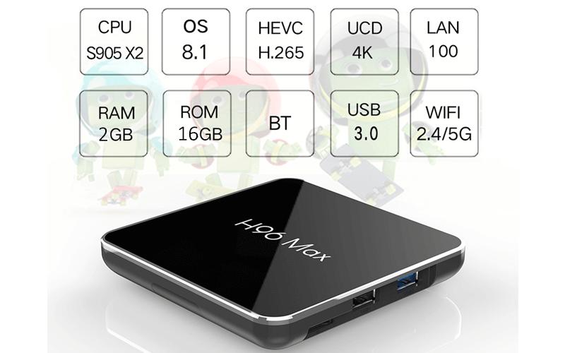 enybox h96 max x2 2gb/16gb android 8.1 tv box amlogic s905x2 - hình 07