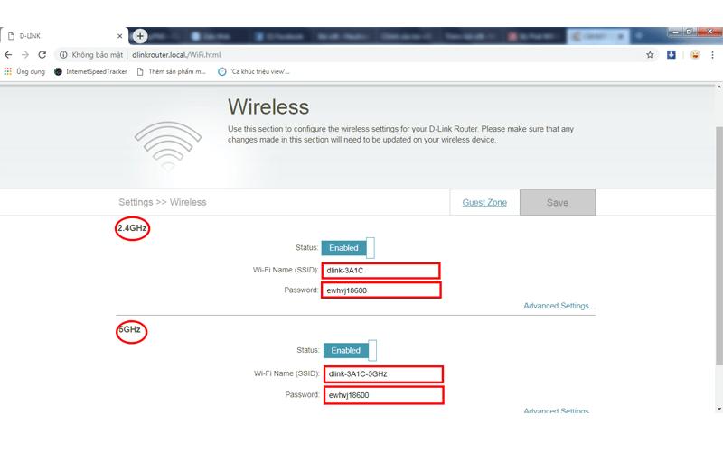 hướng dẫn cấu hình bộ phát wifi d-link dir-822 qua trình duyệt web máy tính - hình 06