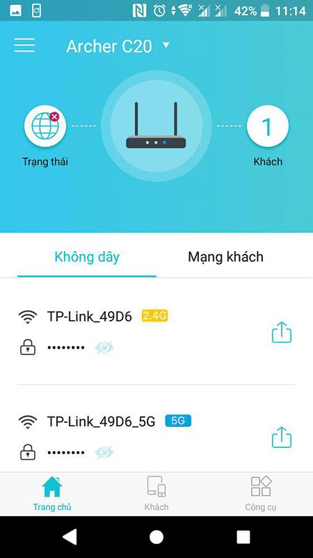 cách cấu hình bộ phát wifi tp-link archer c20 bằng ứng dụng tether - hìn 06