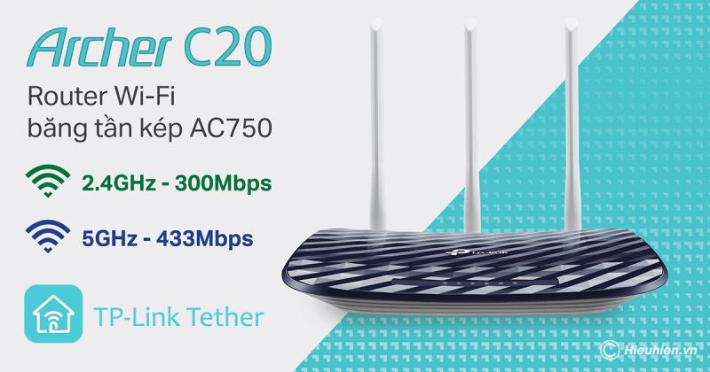 cách cấu hình bộ phát wifi tp-link archer c20 bằng ứng dụng tether