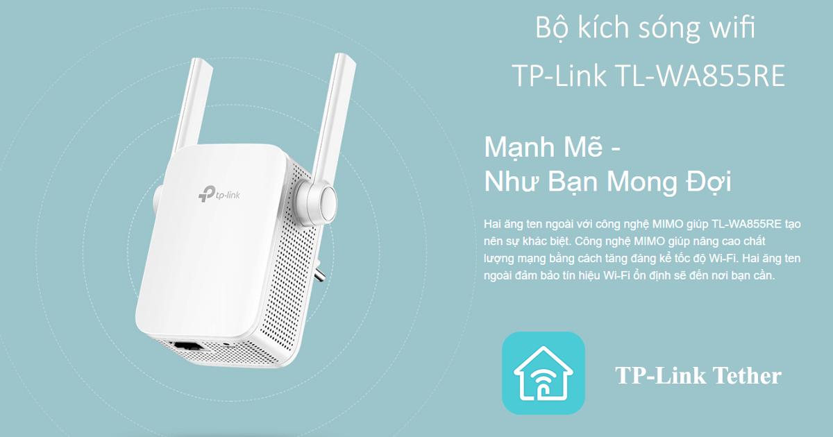 cách cấu hình bộ kích sóng wifi tp-link tl-wa855re bằng app tether