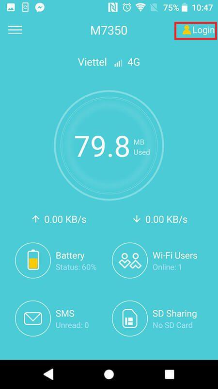 cách cấu hình bộ phát wifi 4g tp-link m7350 bằng ứng dụng tpmifi hình 06
