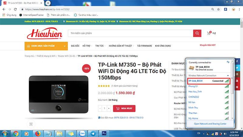 hướng dẫn cấu hình tp-link m7350 - bộ phát wifi 4g di động qua trình duyệt web - hình 0